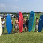 サーフィンに行こう〜〜 20190728 シェアハウスメンバーですって。体験 サーフィン スクール