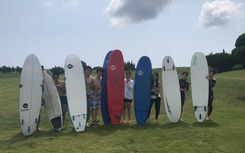 サーフィンに行こう〜〜 20190803 会社の同期のメンバーさんたち 体験 サーフィン スクール