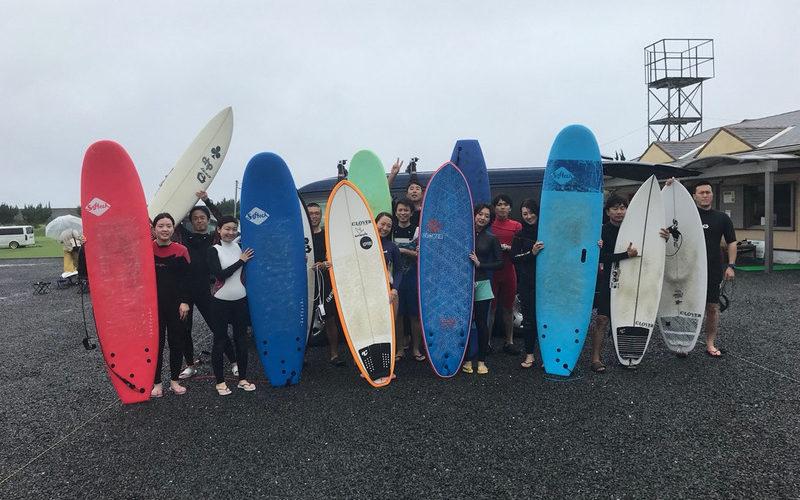 サーフィンに行こう〜〜 20190715 雨でも頑張る!体験 サーフィン スクール