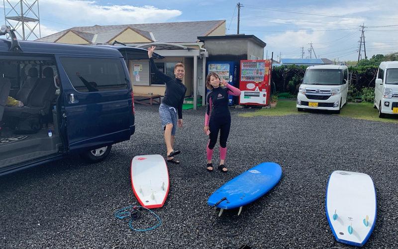 サーフィンに行こう~~~ 20190905 2人だけ サーフィンスクール
