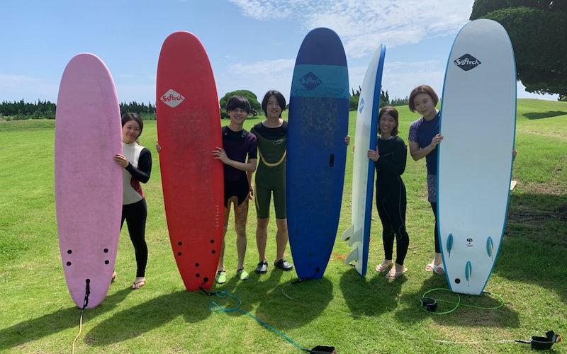サーフィンに行こう~~ 20200719 いい天気!初心者サーフィンスクール