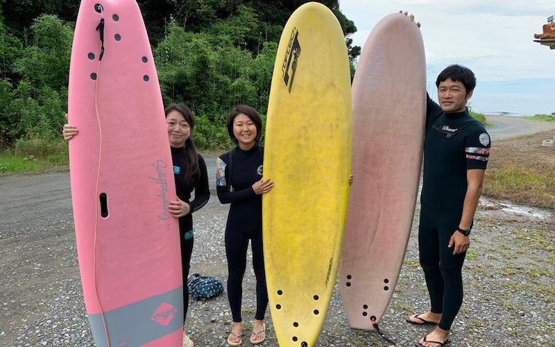 サーフィンに行こう~~ 20200725  晴れの日本海 サーフィンスクール
