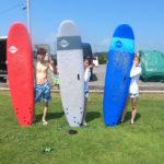 サーフィンに行こう〜〜  20200806 夏。サーフィンスクール 体験スクール