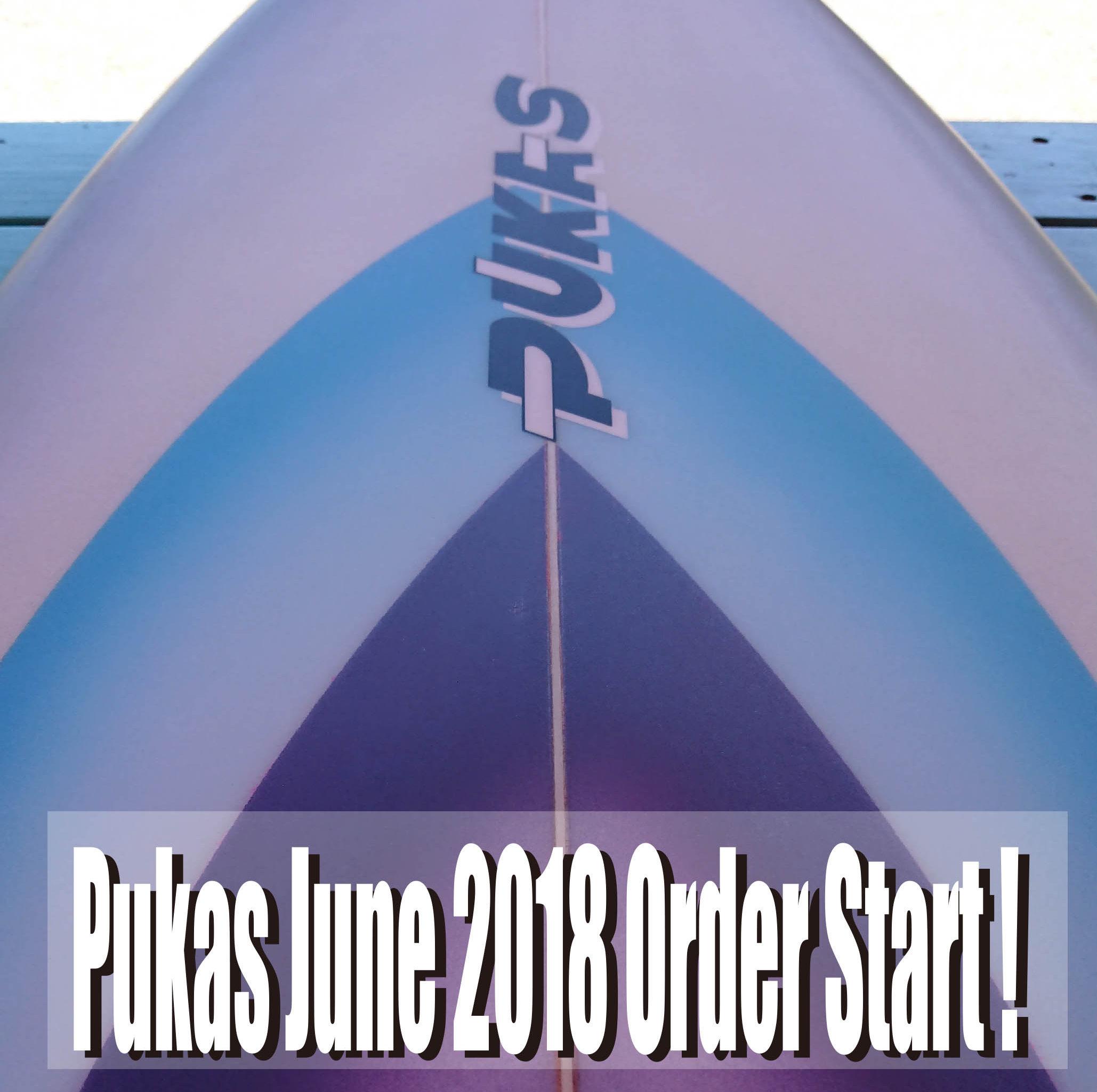 PUKAS サーフボード オーダー受付け開始!
