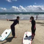 サーフィンに行こう〜〜 20190726 台風前にいいタイミングで 体験 サーフィンスクール大阪
