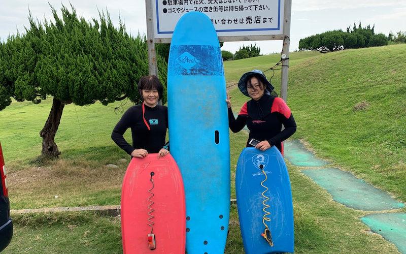サーフィンに行こう~~ 20190926 マダムの貸切りサーフィン体験!!! 初心者 サーフィンスクール